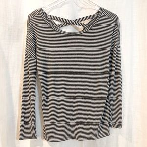 Zanana Outfitters / strappy striped long sleeve
